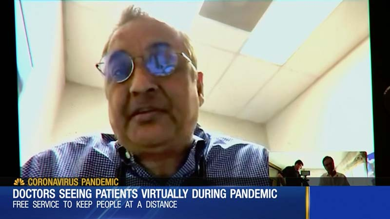 Hopdoc Co-Founder Dr. Ashok Mehta speaks to WSMV Channel 4 News